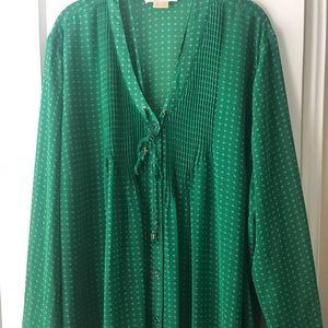 EUC Michael Kors blouse, green, 3X